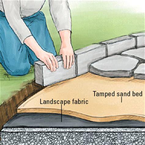 installing edging patio wall installation tips