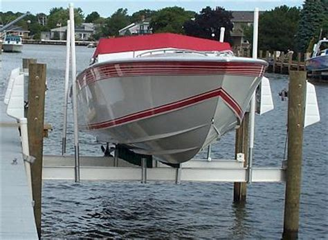 Boat Lift Piling Spacing by Boat Lifts 4 Point Lifts Shore Systems Boat