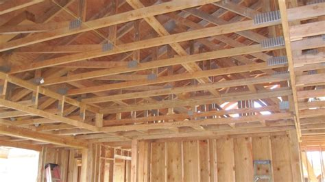 rafters  roof trusses       home