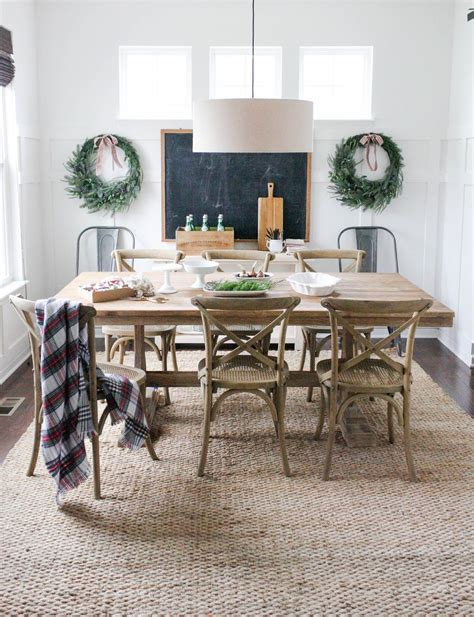 Jute Rug From Rugs Usa; Dining Table From World Market
