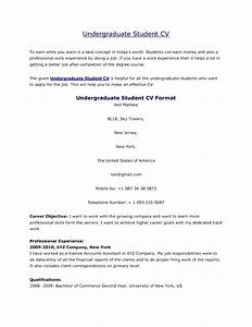 undergraduate student cv format free samples examples With cv format for student