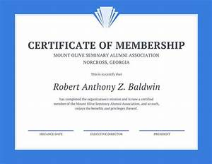 blue line border membership certificate templates by canva With new member certificate template