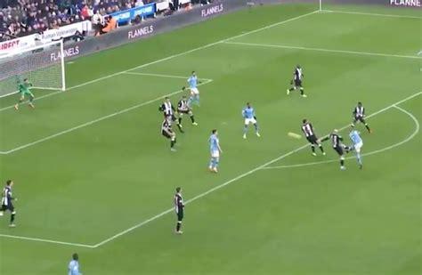 video de bruyne stunning goal  man city  newcastle