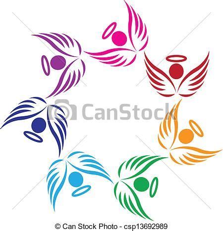clipart angeli lavoro squadra sostegno angeli logotipo lavoro squadra