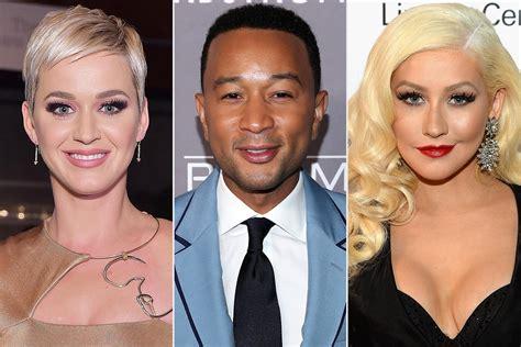 Katy Perry, John Legend, Christina Aguilera, DWTS Pros and ...