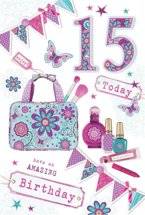 age  girl birthday card bright   bag perfume