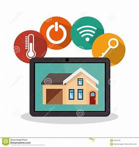 Smart Home Icon : smarthome technology isolated icon royalty free cartoon 84944162 ~ Markanthonyermac.com Haus und Dekorationen