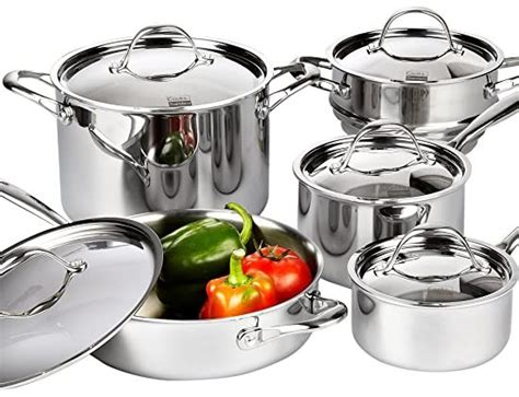 cookware cooks standard glass stoves amazon ply multi piece stainless steel clad choose edition sets via water