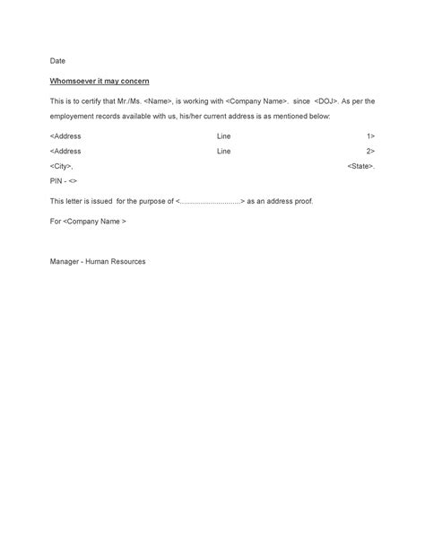 proof  residency letters  family member