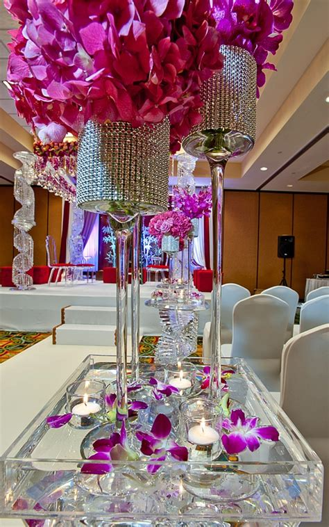 fuchsia wedding table decorations 1000 ideas about votive centerpieces on pearl