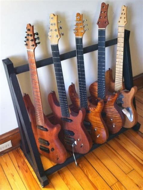 incredible pallet guitar stands easy diy  crafts