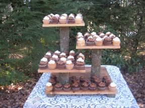 log wedding rustic wedding cake stand cupcake stand rustic wedding log