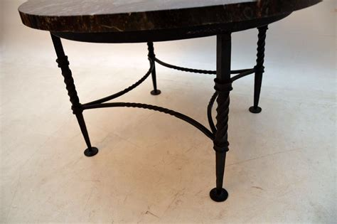 vintage marble wrought iron coffee table