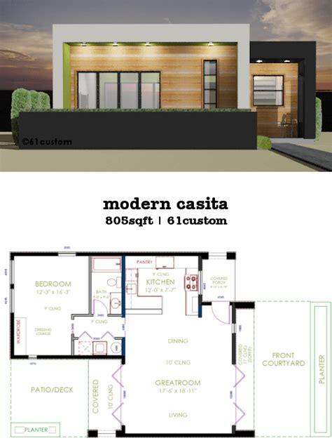small modern house plans casita plan small modern house plan 61custom
