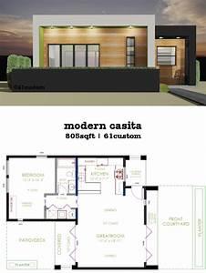 Casita, Plan, Small, Modern, House, Plan