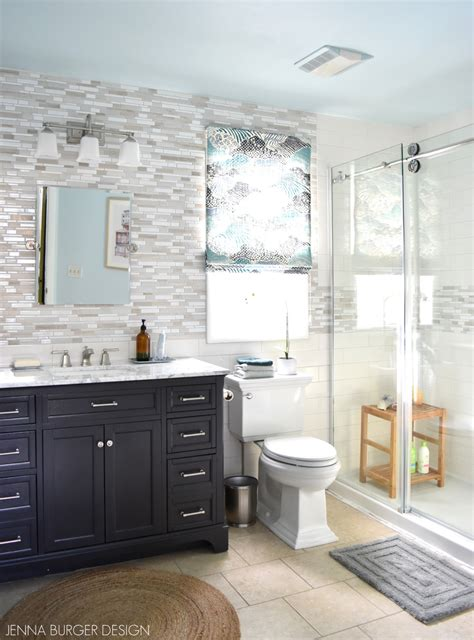 serene sophisticated master bathroom reveal jenna