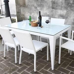 Plateau De Verre Pour Table : komodo table pour l 39 ext rieur plateau en verre diff rentes dimensions et couleurs sediarreda ~ Melissatoandfro.com Idées de Décoration