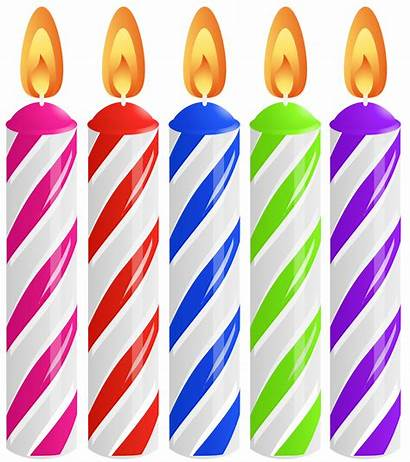Candles Birthday Clip Cake Clipart Candle Transparent