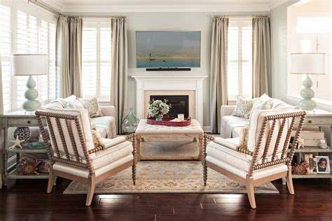 Coastal decor ideas living room traditional with coffered