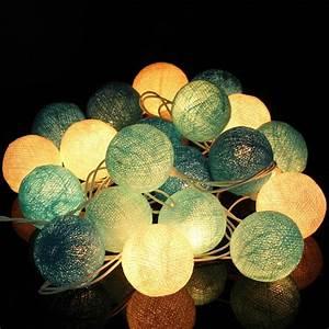 Guirlande Lumineuse Mariage : meilleur prix 20 tissu boules de coton cordes led ~ Melissatoandfro.com Idées de Décoration