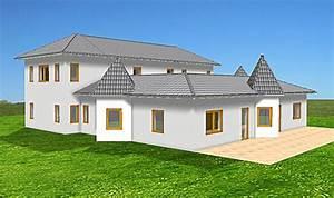 Bungalow Mit Atrium : atrium 289 30 12 ansicht 2 93 bungalow mit turm schloss einfamilienhaus neubau massivhaus stein ~ Indierocktalk.com Haus und Dekorationen