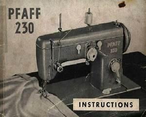 Pfaff 230 Sewing Machine Instructions