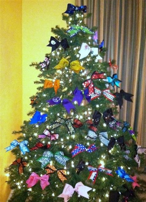 cheer bow christmas tree cheer pinterest