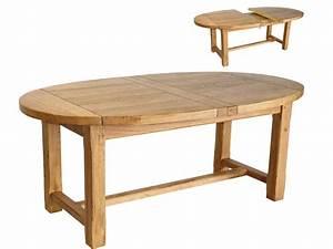 Table Extensible Ovale QuotMaevaquot En Chne Massif 50894