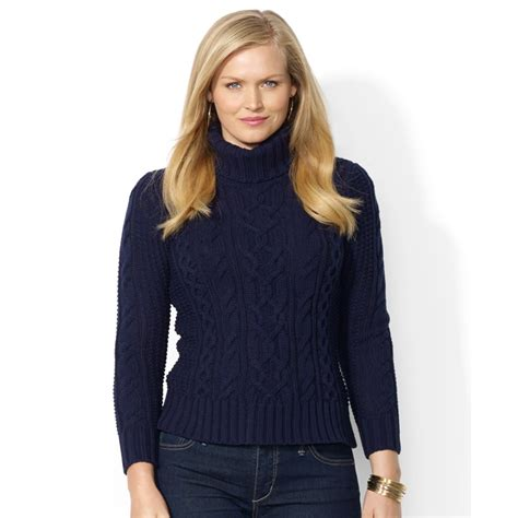 plus size sweaters lyst by ralph plus size cable knit