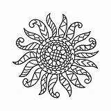 Sunrise Sun Coloring Pattern Folk Zentangle Norwegian Colouring Clip Stress Rosemaling Illustrations Drawn Anti Returned Zero Sorry Results Shutterstock sketch template