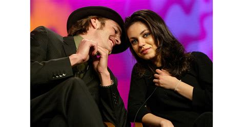 Ashton whispered in Mila's ear during the Fox Television ...