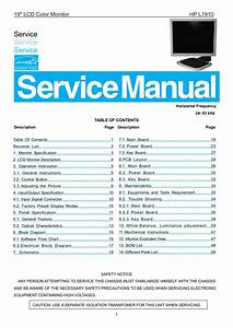 Download Free Pdf For Hp L1910 Monitor Manual