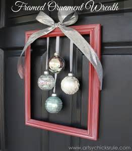 diy holiday framed ornament wreath welcome home tour artsy chicks rule 174