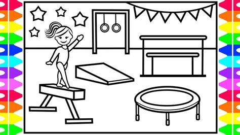 draw gymnastics  kids gymnastics drawing  kids gymnastics coloring pages kids