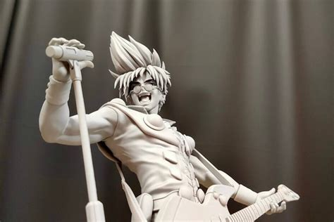 """This figure stands at nearly 9 inches tall, intricately detailed, and ready for any anime collection! Mostre e Eventi MegaHobby Special Week 2021 : Basara Nekki """"Macross 7"""" Statue - Gokin.it by ..."""