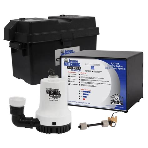 battery operated ls lowes shop basement watchdog 0 33 hp plastic battery powered