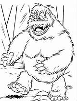 Coloring Rudolph Abominable Snowman Reindeer Bigfoot Nosed Monster Printable Drawing Yeti Colouring Clipart Finding Sheets Bumble Bowser Snow Jr Misfit sketch template