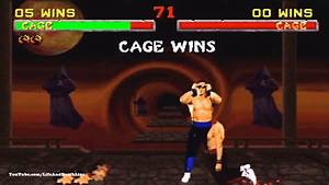 Mortal Kombat 2 Johnny Cage Fatality, Babality, Friendship ...