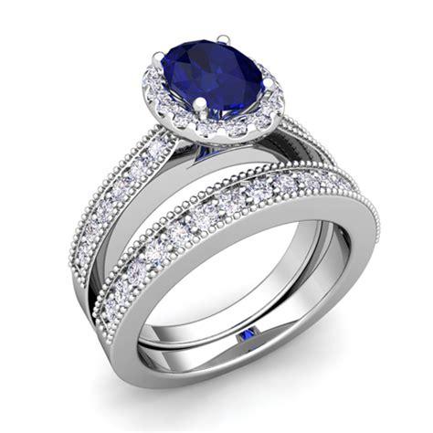 milgrain sapphire engagement ring bridal