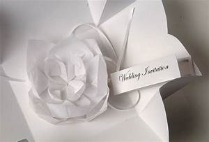 origami lotus flower invitation by paperbird design With origami wedding invitations from paper bird design