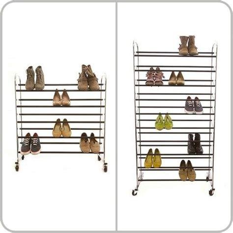 Storables Closet by Shoe Storage Solution Storables Multi Level Shoe Rack