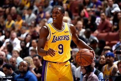 Lakers Rondo Rajon Angeles Point Getty Guard