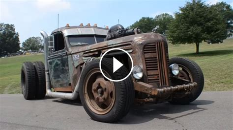 caterpillar diesel powered twin turbo rat rod truck
