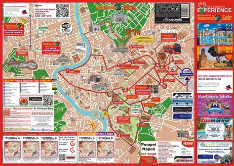 rome attractions map   printable tourist map rome