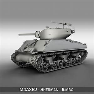 M4A3E2 - Sherman Jumbo 3D Model – Buy M4A3E2 - Sherman ...