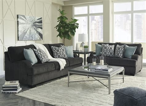 Charcoal Sofa Living Room by Charenton Charcoal Sofa Loveseat 14101 38 35
