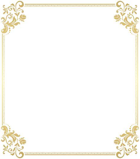 gold floral border frame transparent clip art gallery yopriceville