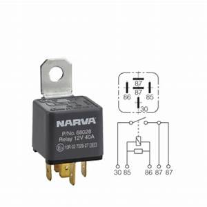 Narva Relay 24v 5pin 30a