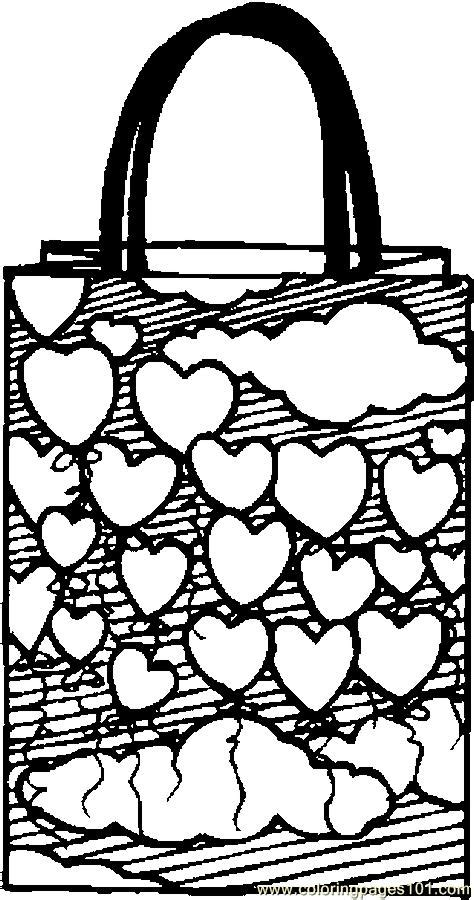 gift bag hearts coloring page  valentines day coloring pages coloringpagescom