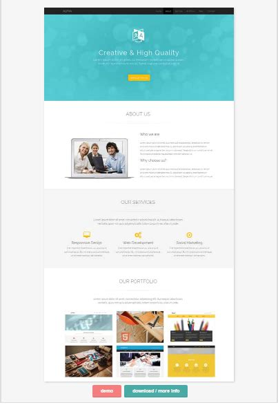 One Page Website Template 50 One Page Website Templates For Your Business Small